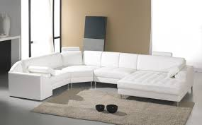 white modern couches. VIEW IN GALLERY White Contemporary Bed Sectional Sofas Leather Sofa Sleeper Room Modern Furniture Couches R