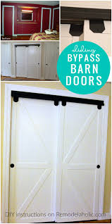 Faux Barn Door How To Make Bypass Closet Doors Into Sliding Faux Barn Doors