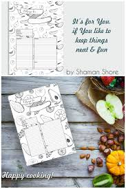 recipe template recipe planner happy planner templates recipe pages a4 pdf blank recipe book pages fun printable recipe sheets
