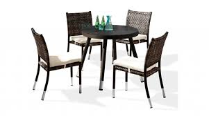 fatsia dining set for 4 with round table and armless chairs