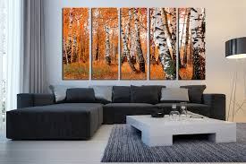 5 piece multi panel canvas orange scenery large pictures trees group canvas scenery on wall art trees large with 5 piece wall decor orange panoramic huge canvas print scenery