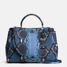 Lyst - Coach Gramercy Satchel In Python Embossed Leather in Blue