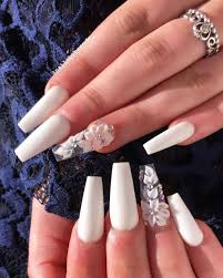 Nail Art Designs On White Nails The Best Coffin Nails Ideas That Suit Everyone White