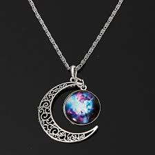 images gallery generic charm women galactic glass cabochon pendant