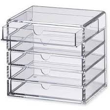 muji acrylic multipurpose makeup organizer case 5 drawers small limited