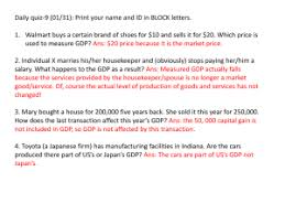 What Is Not Included In Gdp Chapter 5 Gdp A Measure Of Total Production And Income 1 The