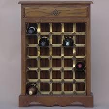 wine bottle storage furniture. Solid Oak Brass Wine Rack 30 Bottle Storage Furniture