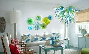 blown glass wall plate art hanging decor