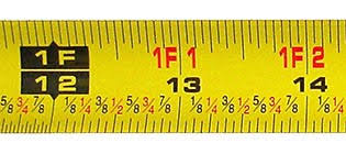Standard Tape Measurement Chart Accurately Reading A Tape Measure Inches Metric Fractional Read