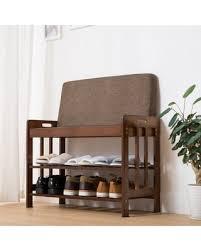 Image Bench Seat Ollieroo Natural Bamboo Shoe Rack Entryway Shoe Storage Household Shelf Shoe Bench With Cushion Better Homes And Gardens Shopping Special Ollieroo Natural Bamboo Shoe Rack Entryway Shoe
