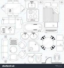furniture for floor plans. Outline Vector Of Simple Furniture Plan, Floor Plan Symbol As Architecture Design Elements. A For Plans S