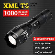 Đèn pin cầm tay siêu sáng 5 chế độ hộp đầy đủ phụ kiện chính hãng 109,000đ