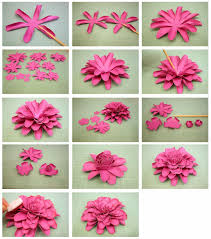 Dahlia Flower Making With Paper Bits Of Paper 3d Dahlia Another Mum Paper Flower Paper