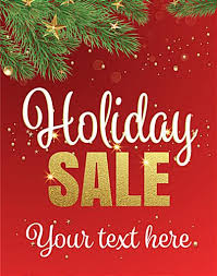 Holiday Sale Retail Poster Multipack 12 Signs