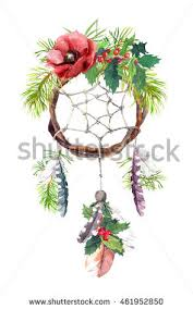 Tree Branch Dream Catcher Christmas Dream Catcher Dreamcatcher Feathers Fir Stock 95