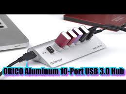<b>ORICO Aluminum</b> 10 Port USB 3 0 Hub A Review <b>M3H10</b> U3 <b>V2</b> ...