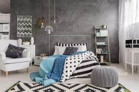 6 gorgeous bedrooms with gray walls