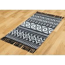 white area rug hand woven black white area rug