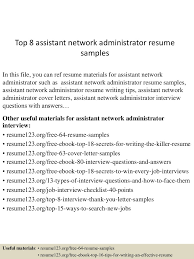 System Administrator Resume Sample The Best Network It 20 Peppapp