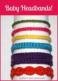 Free Crochet Pattern Six Styles Of Baby Headbands Pattern