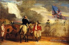 john trumbull paintings for study for surrender of cornwallis at yorktown