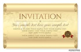 Invitation Design Medieval Old Vintage Scroll Parchment