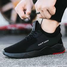<b>WENYUJH</b> Summer Black <b>Men Vulcanize</b> Shoes Breathable Casual ...