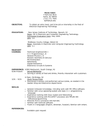 Resume For Recent College Graduates Builder Graduate With No