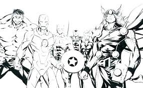 Avengers Coloring Pages Free Amazing Printable The Picture Page To