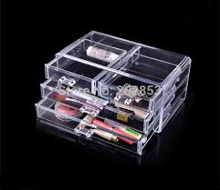 high quality makeup nice 4 drawers cosmetics jewelry storage box home decoration table drawer cosmetic box