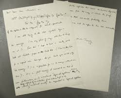 rbsc manuscripts division news alan turing letter to alonzo church