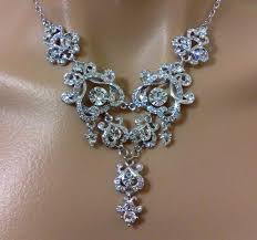 statement bridal necklace chandelier wedding necklace old hollywood wedding jewelry vintage style victorian bridal jewelry yohanna
