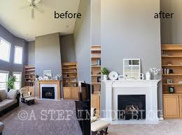 paint a wood fireplace white ideas