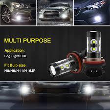 Alfa Romeo Stelvio Fog Lights 2pcs H11 H8 H9 H3 Led Car Fog Light Bulb For Alfa Romeo 159 147 156 5 Giulietta Mito Gt 166 Brera Gtv 164 Spider 2 6 75 146 145