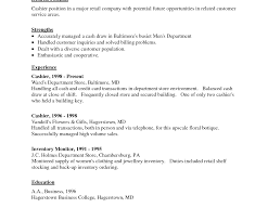 Resume Work Experience For Cashier Sports Researcher Cover Letter