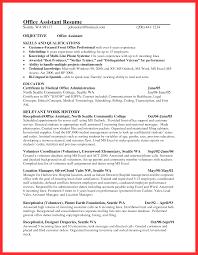 Office Assistant Objective Officeume Sample Good Format Medical Front Desk Receptionist