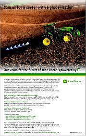 Jobs In John Deere Center India Vacancies In John Deere Center