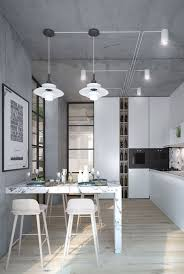 concrete walls and ceiling look harmonious and very modern