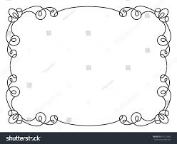 simple frame design. Calligraphic Rectangle Frame, Simple Frame Ornament, Decorative Design  Element In Retro Style, Vector