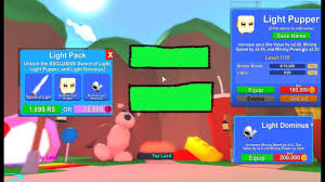 Roblox Mining Simulator Light Pack Buying The Light Pack And Leveling Up My Light Pupper Roblox Mining Simulator