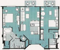 disney old key west resort 2 bedroom villa floor plan luxury beach club two bedroom vacation