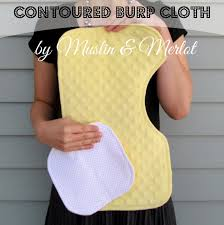 Burp Cloth Pattern Interesting Oh Baby Part Two Contoured Burp Cloth Tutorial Muslin And Merlot