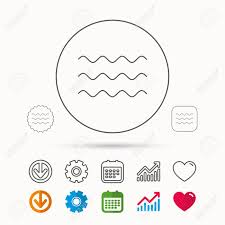 Waves Icon Sea Flowing Sign Water Symbol Calendar Graph Chart