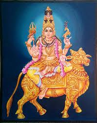 oil painting lord shiva on rishabha