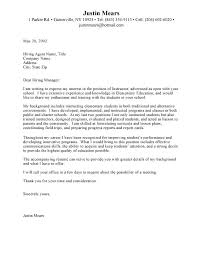 Teacher Cover Letter Example Cover Letter For Education Job Sample Of Research Proposal