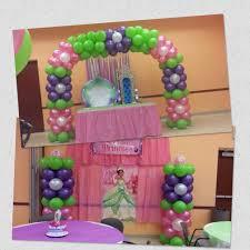 Princess and the frog Baby Shower, balloon arch and balloon column ...  shellysdecor4you