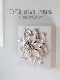 diy 3d flower wall hanging little red