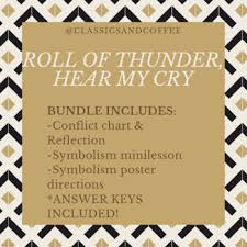 Roll Of Thunder Hear My Cry Symbolism Chart Bundle Roll Of Thunder Hear My Cry Conflict Symbolism