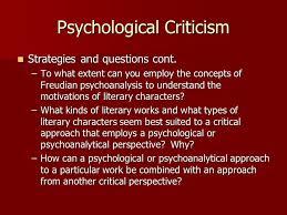 Psychological Criticism Literary Criticism Ppt Video Online Download