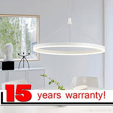 stage lighting ring led chandelier aluminum acrylic lamp modern light fixture circle hanging res led luminaire